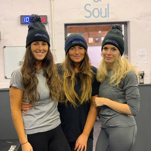 Clients wearing Beanie Hats at Lee Murphy Personal Training Wetherby